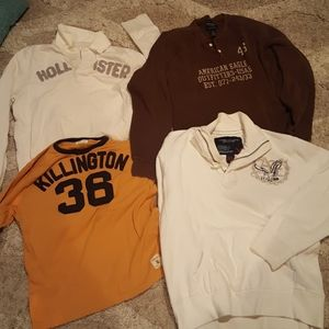 American Eagle and Hollister long sleeve shirts. M